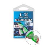 L&K CHEBURASHKA FISH HEAD 23G-JIG HEAD